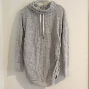 Isabel maternity heather gray sweat shirt